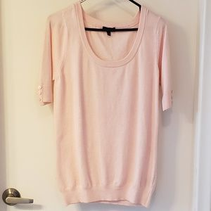 2 for $ 20🪀Baby Pink Short Sleeve Sweater, Sz Lg
